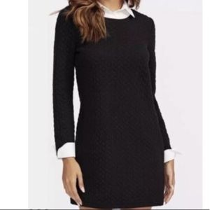 Textured Black and White Shein Dress
